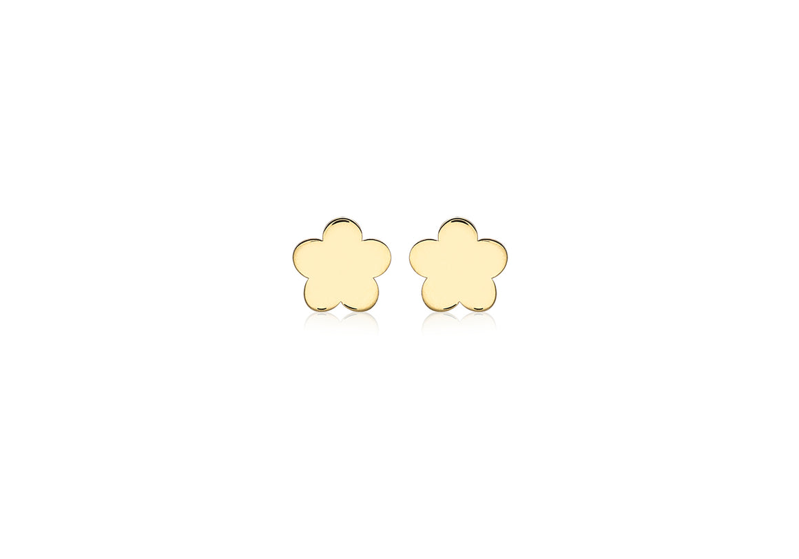 9ct Yellow Gold Small Flower Earrings