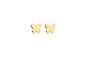 9ct Yellow Gold Butterfly Stud Earring