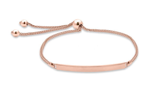 9ct Rose Gold Bar Tassle Bracelet