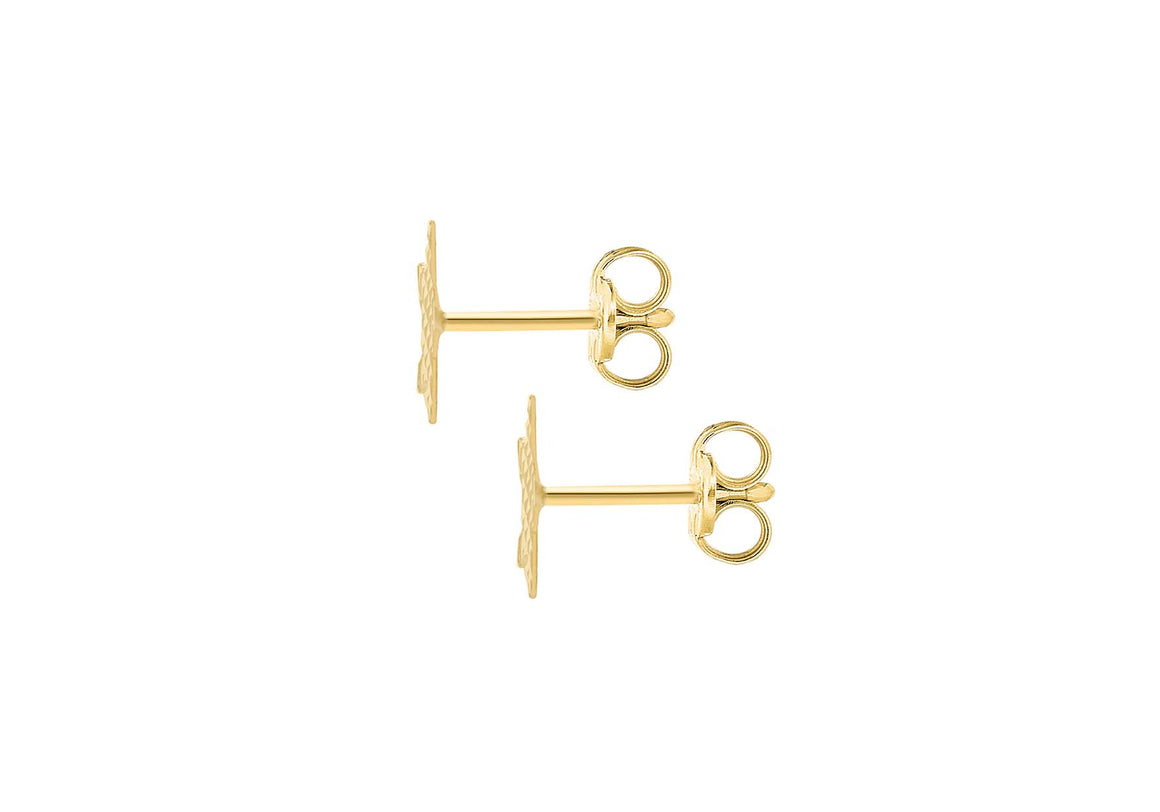 9ct Yellow Gold Star Stud Earring