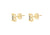 9ct Yellow Gold Initial 'B' Crystal Stud Earring