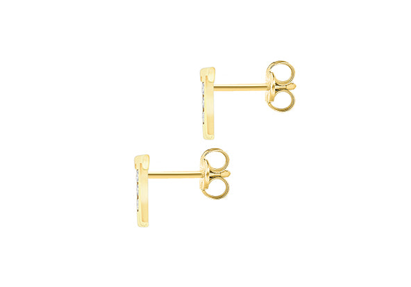 9ct Yellow Gold Initial 'T' Crystal Stud Earring