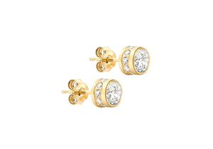 9ct Yellow Gold 5mm Cubic Zirconia Studs
