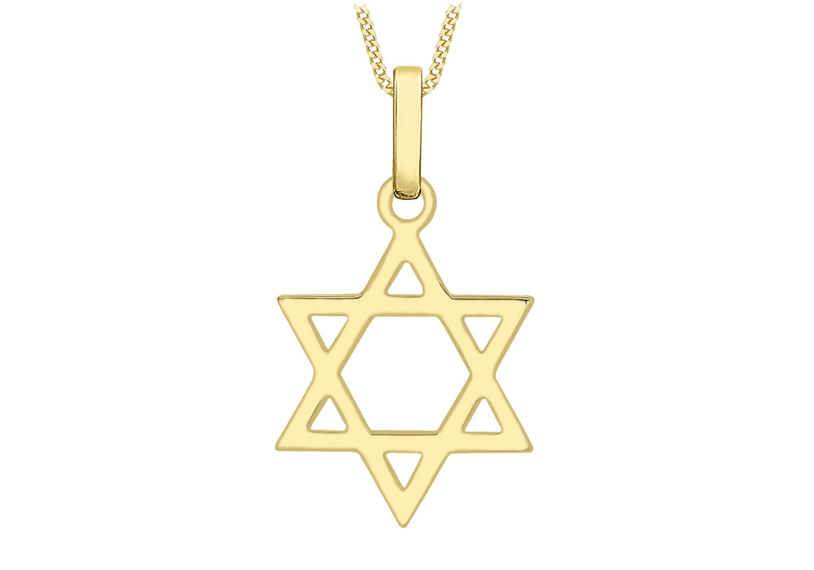 9ct Yellow Gold Large Star of David
