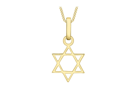 9ct Yellow Gold Small Star of David Pendant