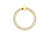 9ct Yellow Gold Open Circle Cubic Zirconia Pendant