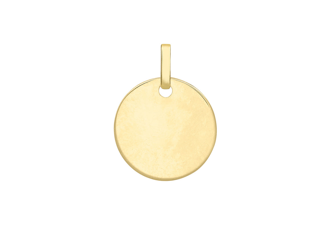 9ct Rose Gold Plain Disc