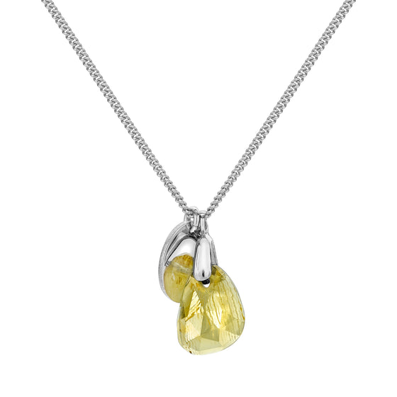 Aura Citrine Rose Cut Necklace