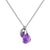Aura Amethyst Rose Cut Necklace