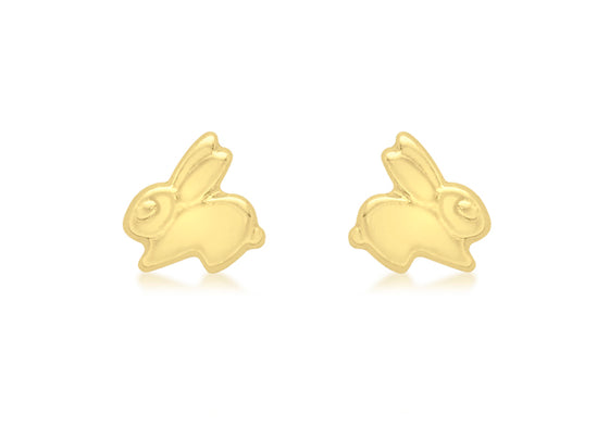9ct Yellow Gold Bunny Earrings