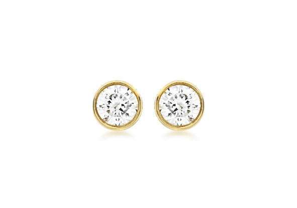 9ct Yellow Gold 6mm Cubic Zirconia Studs