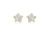 9ct Gold Star Earrings Pave Set with Crystal