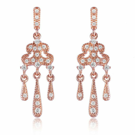V Jewellery Rose Gold Plate Lorelei Earrings