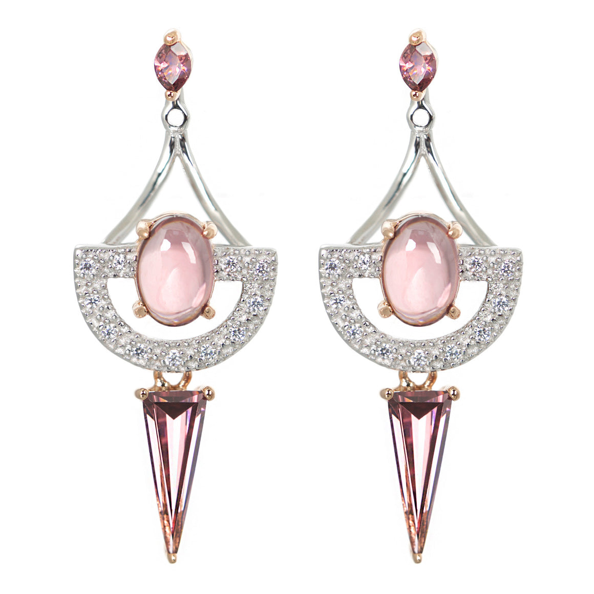 V Jewellery Rouge Mila Earrings