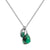 Aura Emerald Rose Cut Necklace