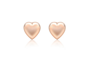 9ct Rose Gold Polished Puffed Heart