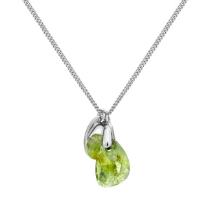 Aura Peridot Rose Cut Necklace