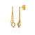 Double Drop Diamond 9ct Yellow Gold Earrings