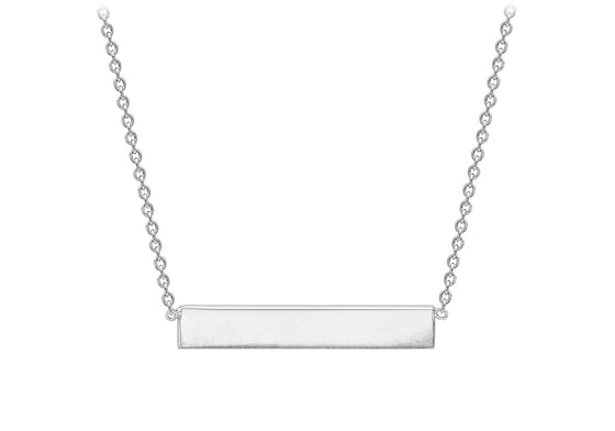 Sterling Silver Polished Bar Necklace