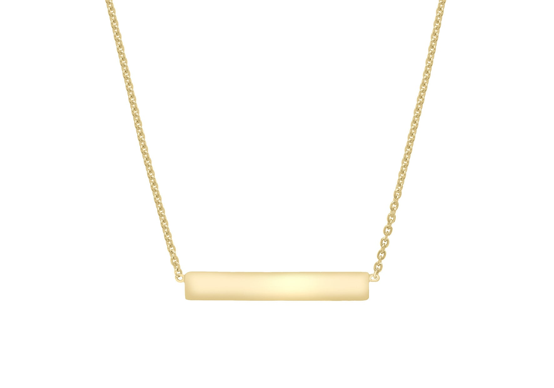 0c43cecbdf2 Buy 9ct Yellow Gold Bar Necklace at Tzefira for only £120.00