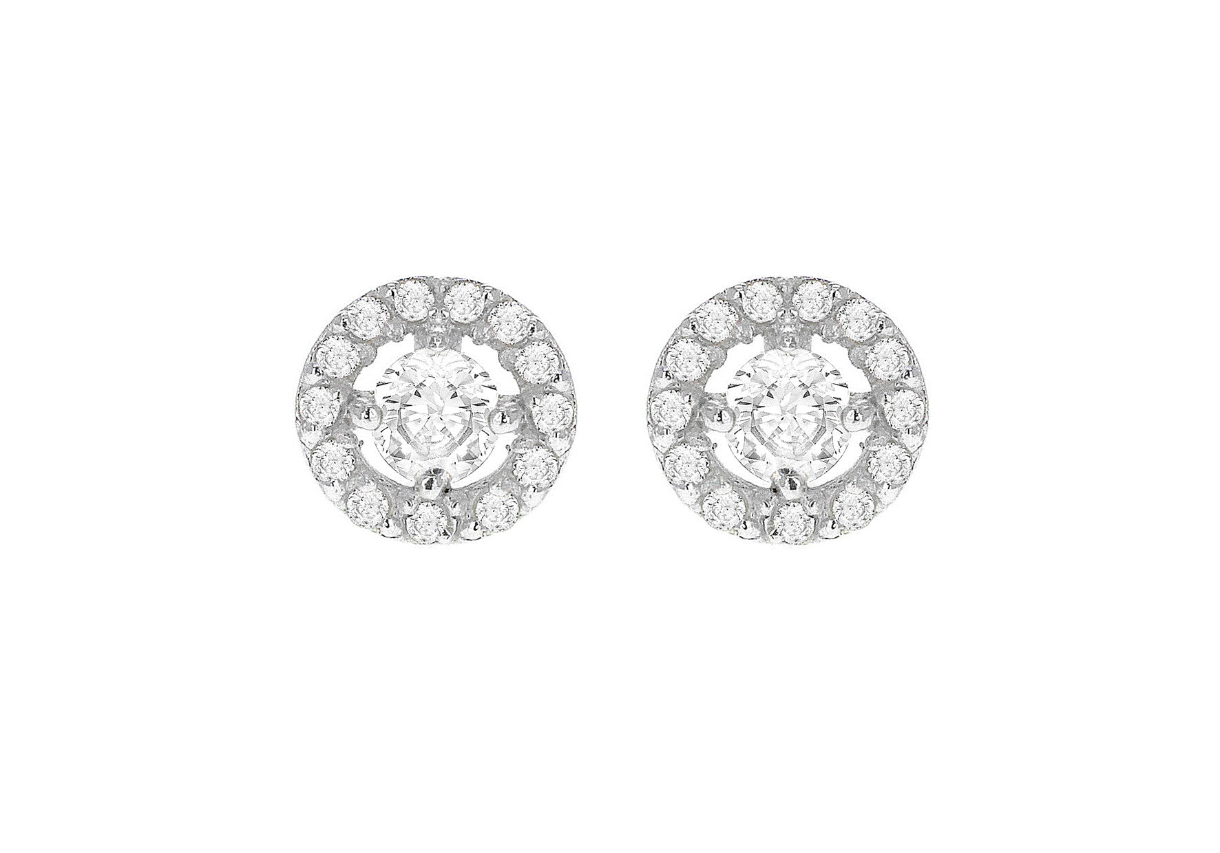 Sterling Silver Cluster Cubic Zirconia Earring
