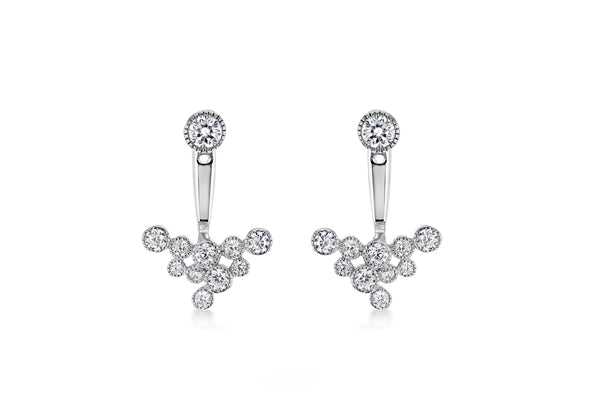 Sterling Silver Crystal Constellation Ear Jackets