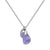 Aura Tanzanite Rose Cut Necklace