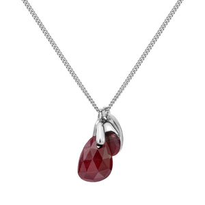 Aura Ruby Rose Cut Necklace