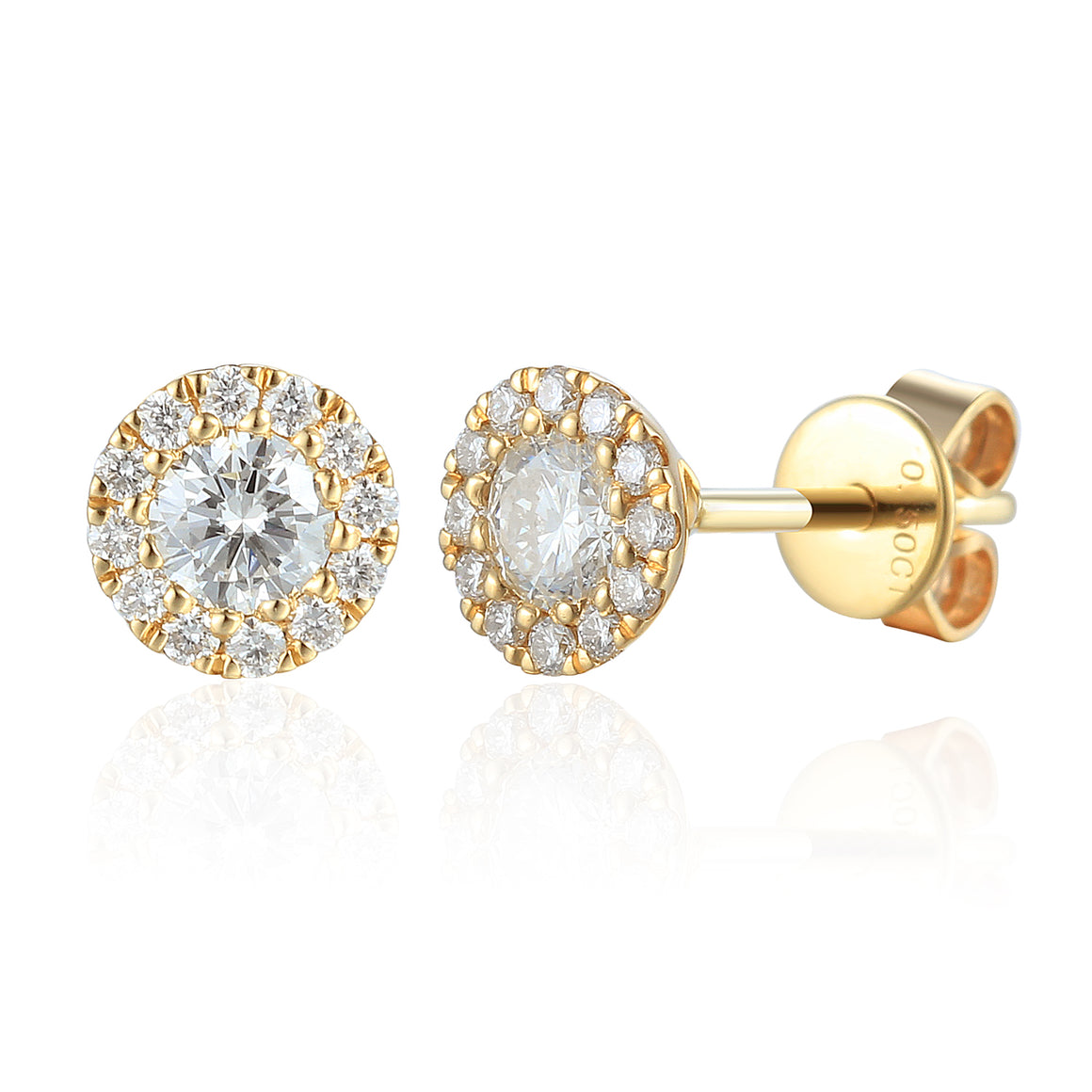 April Birthstone Diamond Cluster 9ct gold studs
