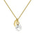 Aura White Quartz Rose Cut Gold Plate Necklace