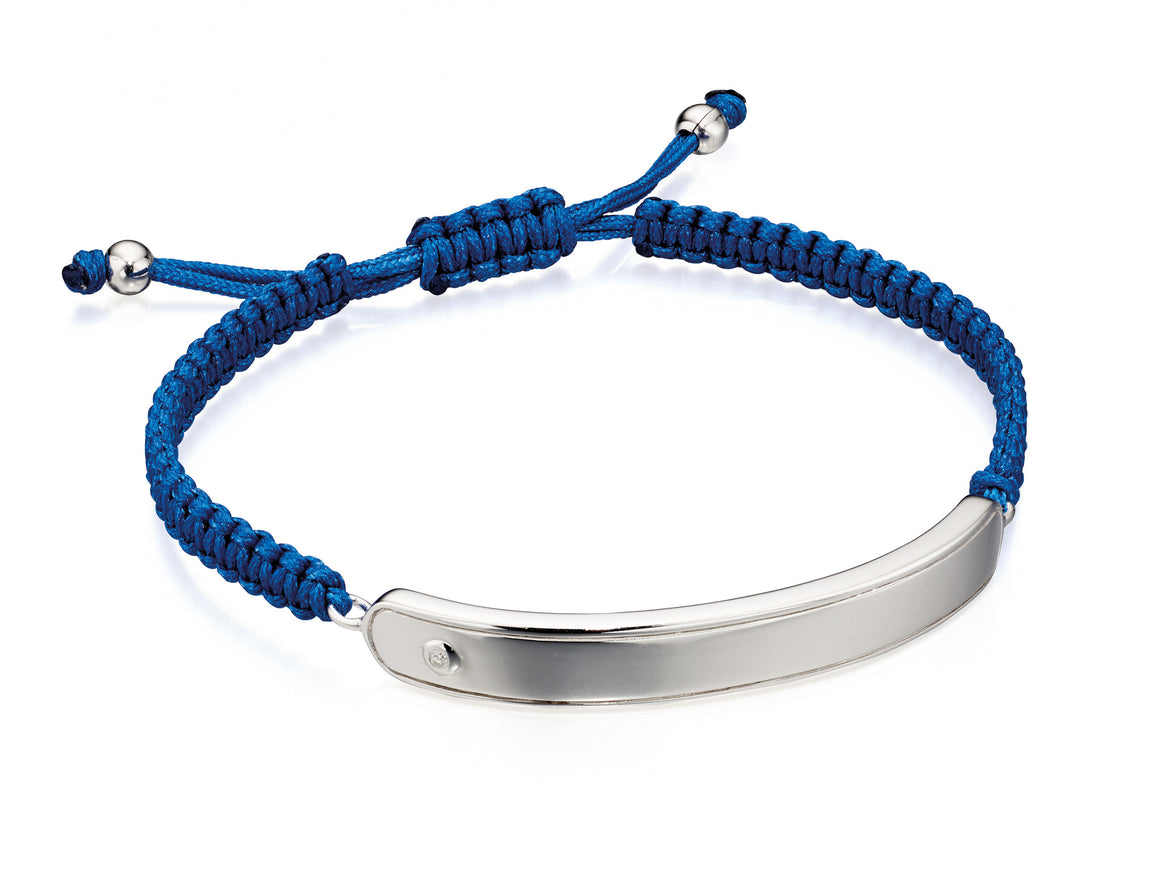 D for Diamond Boys Blue  ID Bracelet