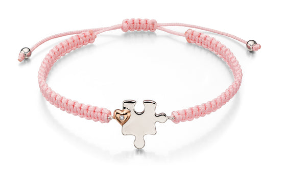 D for Diamond Puzzle Piece Bracelet