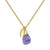 Aura Tanzanite Rose Cut Gold Plate Necklace
