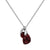 Aura Garnet Rose Cut Necklace