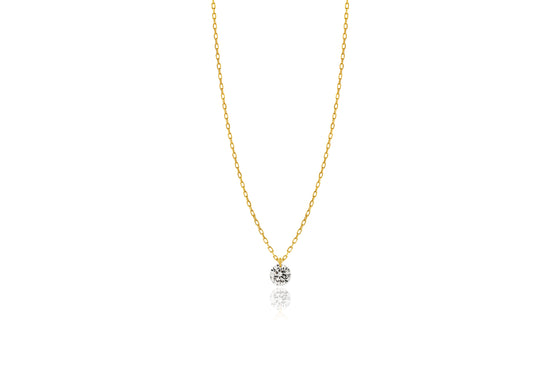 Lustre 18ct Yellow Gold Drilled Brilliant 0.18ct Diamond Pendant