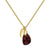 Aura Garnet Rose Cut Gold Plate Necklace