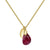 Aura Ruby Rose Cut Gold Plate Necklace