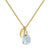 Aura Moonstone Rose Cut Gold Plate Necklace