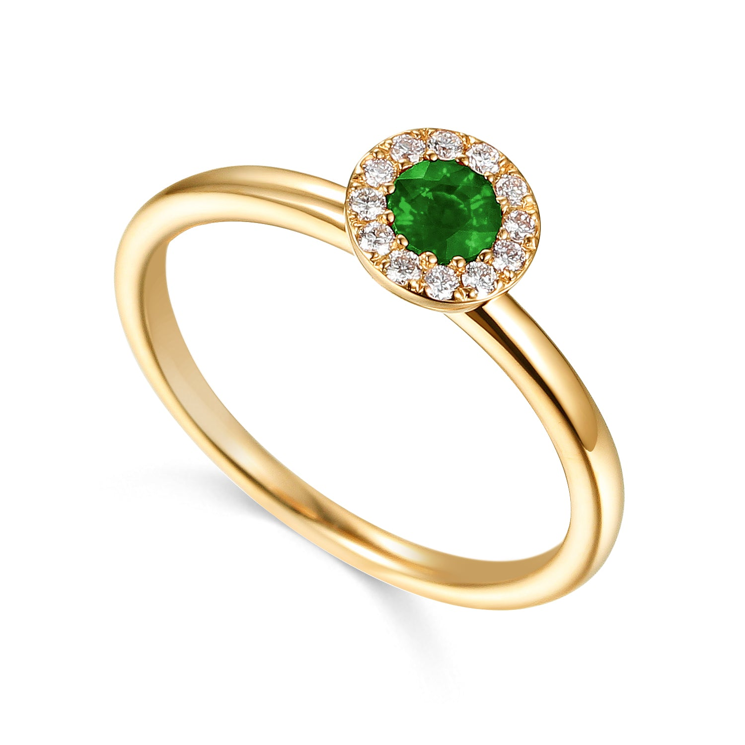 May Birthstone Emerald Cluster 9ct Gold Ring