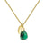 Aura Emerald Rose Cut Gold Plate Necklace - May Birthstone