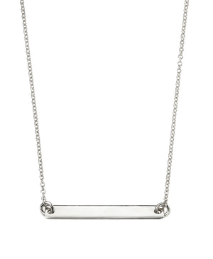 Longer Sterling Silver Bar Necklace