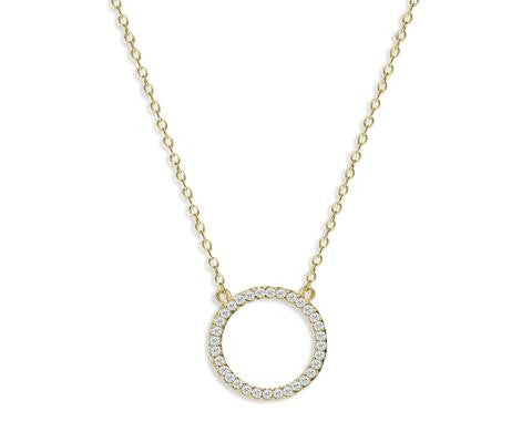 Gold Plate Circle Of Life Necklace