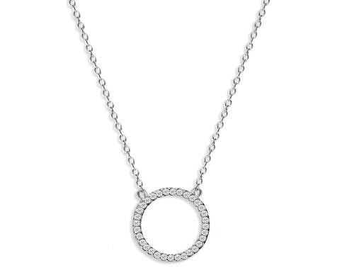 Sterling Silver Circle Of Life Necklace
