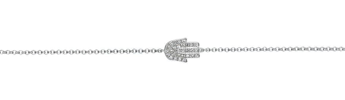 9ct White Gold and Diamond Hamsa Bracelet
