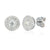 18ct White Gold Diamond Two Row Cluster Earrings