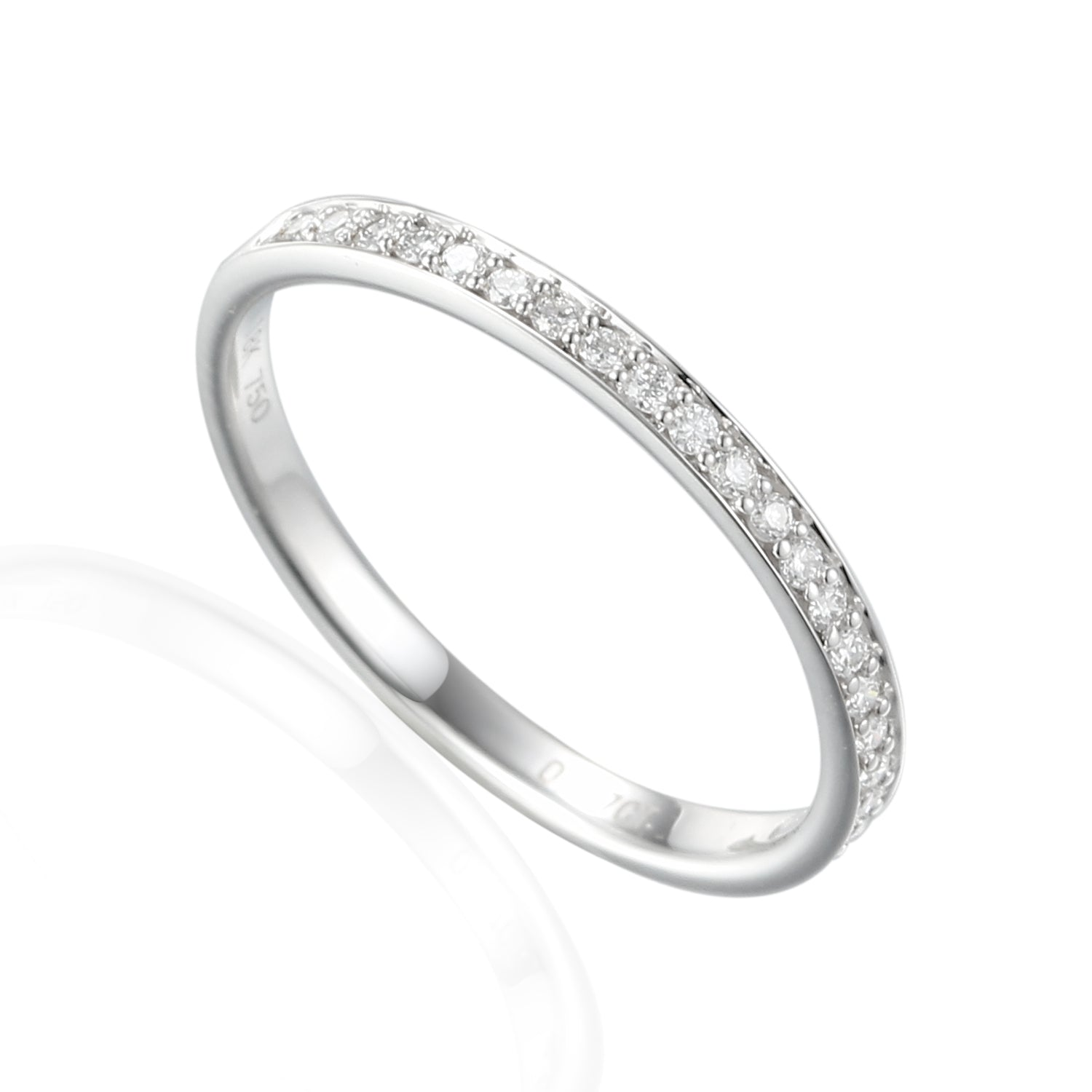18ct White Gold Fine Diamond Full Eternity Band
