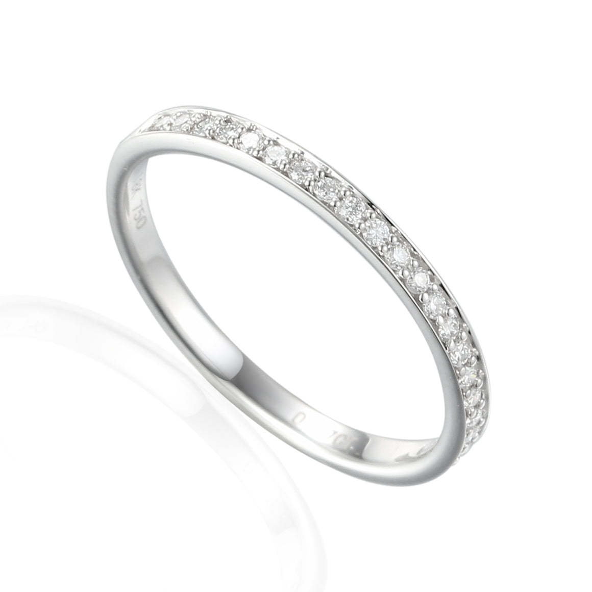 18ct Yellow Gold Fine Diamond Full Eternity Band