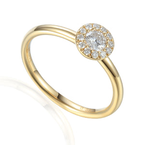 April Birthstone 9ct Gold Diamond  Round Cluster Ring