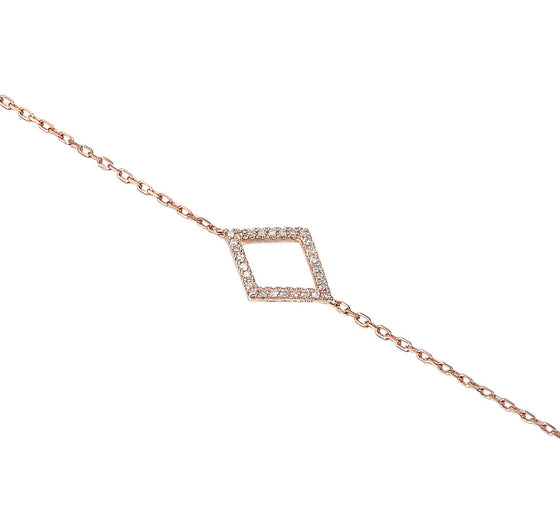 18ct Rose Gold Diamond Set Diamond Bracelet