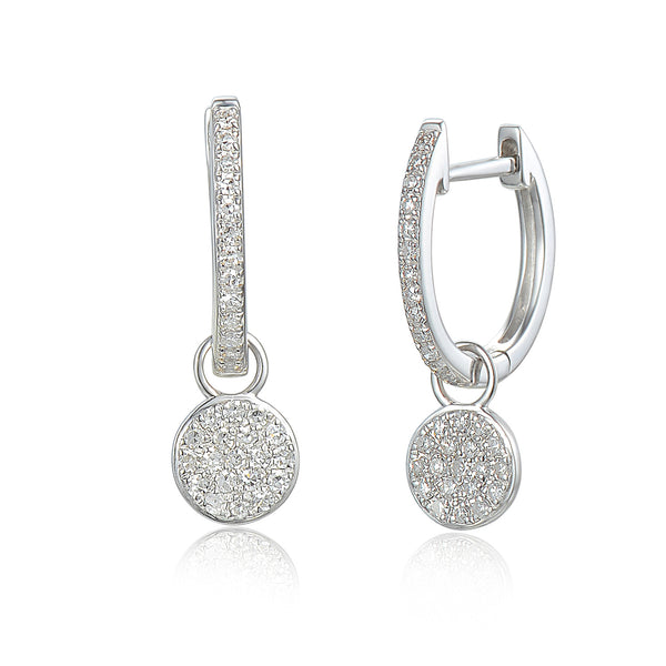 25f86c015 Buy 18ct White Gold Diamond Sleeper Hoop With Hanging Interchangeable  Circle Charm at Tzefira for only £750.00